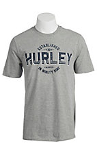 Hurley Men's Signpainter Dark Heather Grey Short Sleeve Tee