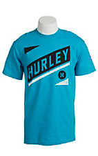 Hurley Men's Take Down Cyan Short Sleeve Tee