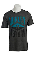 Hurley Men's Army Grey Black Short Sleeve Tee