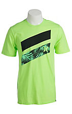 Hurley Men's Icon Slash Flash Lime Short Sleeve Tee