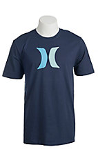 Hurley Men's Navy Icon Short Sleeve Tee