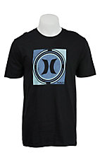 Hurley Men's Crop Circle Black Short Sleeve Tee