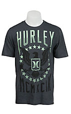 Hurley Men's Flying H Heather Dark Grey Short Sleeve Tee