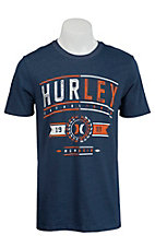 Hurley Men's Harper Navy Short Sleeve Tee