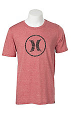 Hurley Men's Icon Red Short Sleeve Tee