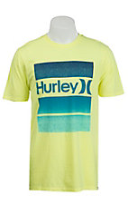 Hurley Men's Brick Flight Glowstick Short Sleeve Tee