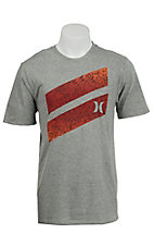 Hurley Men's Heather Grey Icon Slash Force Short Sleeve Tee