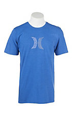 Hurley Men's Royal Blue with White Push Through Icon Short Sleeve T-Shirt