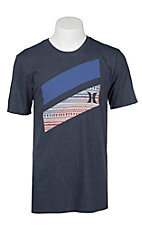 Hurley Men's Obsidian with Slash Icon Screen Print T-Shirt