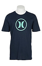 Hurley Men's Navy with Circle Icon Dri-Fit Short Sleeve T-Shirt