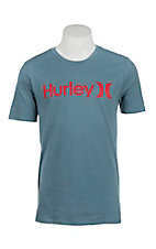 Hurley Men's One & Only Dri-Fit Smokey Blue Logo Short Sleeve T-Shirt