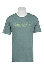 Hurley Men's Dark Teal Tri Blend Short Sleeve T-Shirt