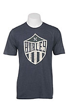 Hurley Men's Obsidian with Cream Crest Logo Short Sleeve T-Shirt