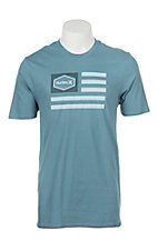 Hurley Men's Homeland Blue Logo Short Sleeve T-Shirt
