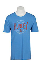 Hurley Men's Light Blue Short Sleeve T-Shirt