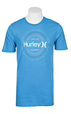 Hurley Men's Light Blue Tublar Dri-Fit Short Sleeve T-Shirt