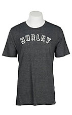 Hurley Men's Black Tri-Blend Block Letter Logo S/S T-Shirt