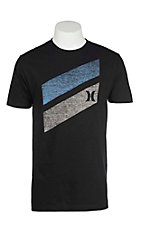 Hurley Men's Black with Push Through Icon Short Sleeve T-Shirt