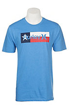 Hurley Men's Light Blue Texas Flag S/S Graphic T-Shirt