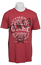 Cinch Men's Red with Black & White Logo Short Sleeve Tee