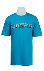 Cinch Men's Turquoise Logo Short Sleeve Tee MTT1690147BL