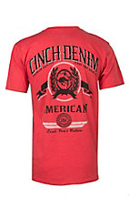 Cinch Men's Heather Red Logo Short Sleeve Tee MTT1690161