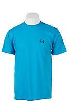 Cinch Men's Heather Turquoise Logo Short Sleeve Tee MTT1690167