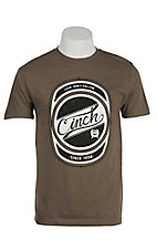 Cinch Men's Moss Brown Logo Short Sleeve Tee MTT1690185HO