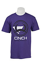 Cinch Men's Purple with Tech Logo Short Sleeve Tee MTT1690187PU