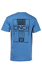 Cinch Men's Heather Blue Logo Short Sleeve Tee MTT1690188HB