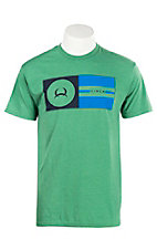 Cinch Men's Green with Black and Blue Logo T-Shirt