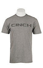 Cinch Men's Grey Logo Short Sleeve T-Shirt