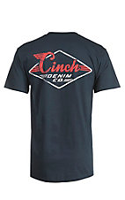 Cinch Men's Navy with White and Red Screen Print Logo Short Sleeve T-Shirt
