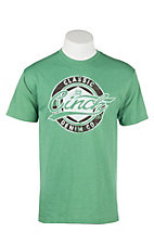Cinch Men's Heather Green with Icon on Front Short Sleeve T-Shirt