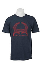 Cinch Men's Navy with Red Athletic Crest Logo screen Print Short Sleeve T-Shirt