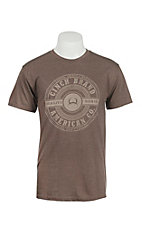 Cinch Men's Brown with White Logo Short Sleeve T-Shirt