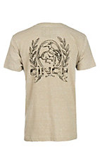 Cinch Men's Khaki Heather Short Sleeve T-Shirt