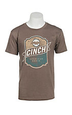 Cinch Men's Light Brown Short Sleeve T-Shirt