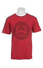 Cinch Men's Red Short Sleeve T-Shirt