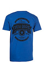 Cinch Men's Royal Blue Logo Short Sleeve T-Shirt