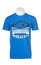 Cinch Men's Blue with Logo on Front Short Sleeve T-Shirt