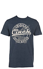 Cinch Men's Navy with White Logo on Front Short Sleeve T-Shirt
