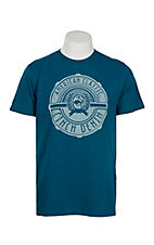 Cinch Men's Teal American Classic Short Sleeve T-Shirt