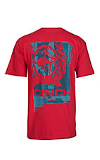 Cinch Men's Red Logo Short Sleeve T-Shirt