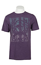 Cinch Men's Heather Purple Short Sleeve T-Shirt