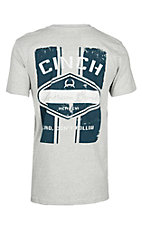 Cinch Men's Grey Branded Short Sleeve T-Shirt