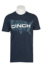 Cinch Men's Navy Tri-Color Jersey T-Shirt