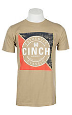 Cinch Men's Khaki Short Sleeve Jersey T-Shirt