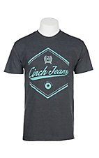 Cinch Men's Heather Grey Jersey Short Sleeve T-Shirt