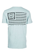 Cinch Men's Mint Tri-Color Jersey Short Sleeve T-Shirt